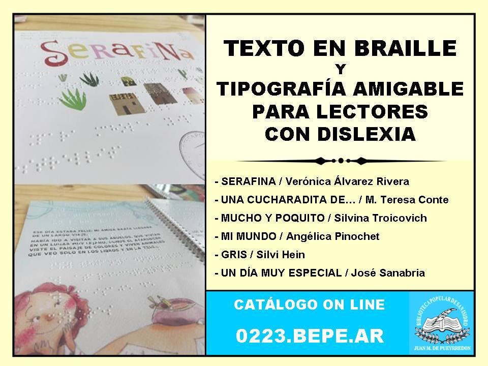Cartel Promo Libros en Braille y para Disléxicos