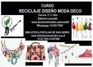 Curso Reciclaje, Diseño, Moda, Deco