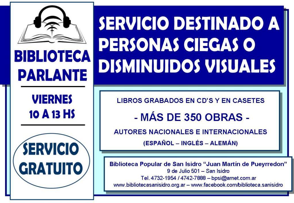 Cartel Biblioteca Parlante 2015
